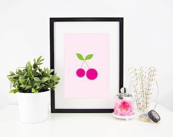 Sweet cherry printable art - nursery, kids room, instant download