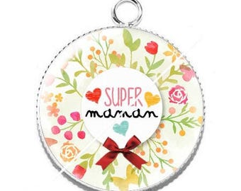 Resin cabochon pendant for MOM s11