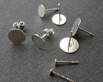 Sticks with roundplate, Sterling Silver (5 pairs)