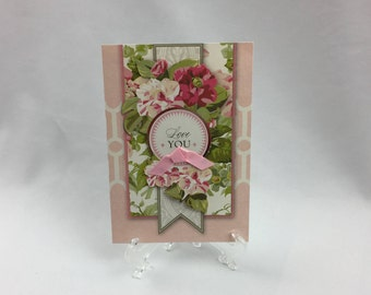 Anna Griffin, Handmade Card, Love You, Sister, Daughter, Friend, Mother, Wife, Birthday, Love, Flowers, Fiance