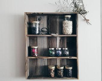 Pallet Wood Spice Rack / pallet wood furniture, pallet wood shelf, pallet wood art, reclaimed wood shelf, spice rack wood, display shelves