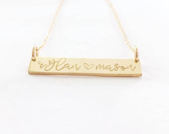 NEW Names Classic Bar Layering Necklace