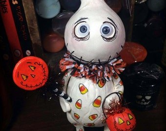 Boo Boo the ghost Halloween Grimmy art doll made to order