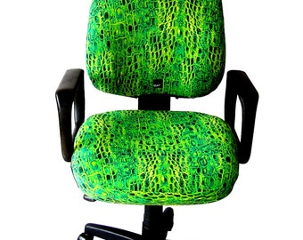 Office Chair Slipcover, One size fit all, blue and green snake limited edition.Slipcover