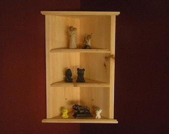 Wall hanging corner shelf