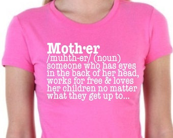 Mother T Shirt|Definition T Shirt|Mother Definition|Gift for Her|Gift For Mom|Gift For Mum|Mothers Day|Xmas Gift For Her|Christmas Gift