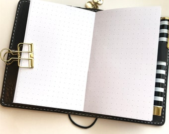 Dot Grid Notebook Planner Inserts | Pocket Size| Bullet Journal Insert