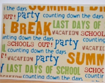 Last Day of School Cards.  End of School Party Cards.  Last Day of School Party Invitations.  Summer Break Card Set.  Summer Party Cards