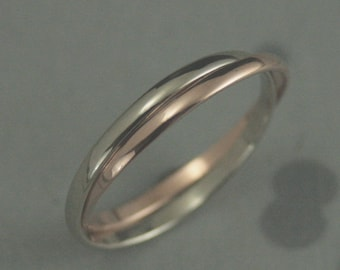 Two tone ring Etsy