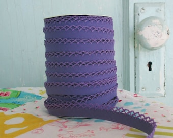 Purple Crochet Edge Double Fold Bias Tape (No. 49)
