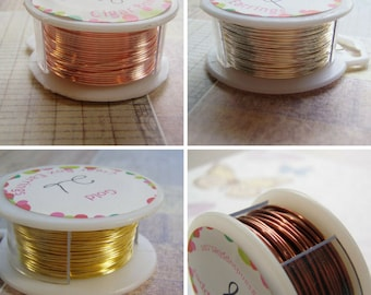 Soft Wire Silver Gold Rose Gold Antique Copper 18 To 28 Gauge on a Spool