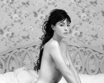 Helmut Newton 11x14 inches Monica Bellucci Fashion Matted Editorial Archive Print