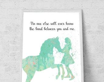 Gift for Horse lover room decor for Girls  mint room decor horse wall art Minty room decor- Printable File