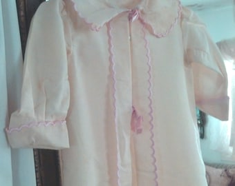 SALE Vintage Pink Trim 1900s Cotton Victorian Christening coat layette Jacket Child or Antique Doll Dress 4 Antique Simon Halbig Bebe Doll