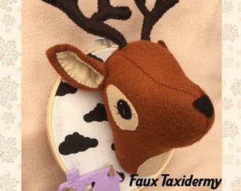 Faux Taxidermy Deer Trophy Head