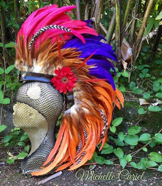 Miss Scarlett - Customizable Feather Mohawk / Headdress