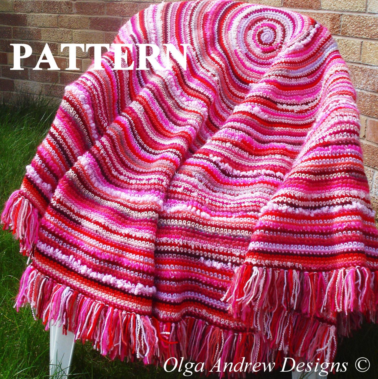 Boho shawl crochet pattern boho blanket crochet pattern round