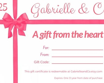 Printable Gift Certificate - Last Minute Birthday Gifts for Her - Digital Download - Printable Gift Cards - Online E Gift Certificates
