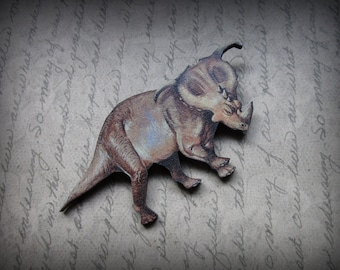 Triceratops Dino Wooden Pin