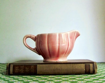 Pink China Creamer, Pink Pitcher, WS George China, Vintage Creamer, Cottage Chic, Ceramic Creamer, Ceramic Pitcher, Shabby Chic Home Decor