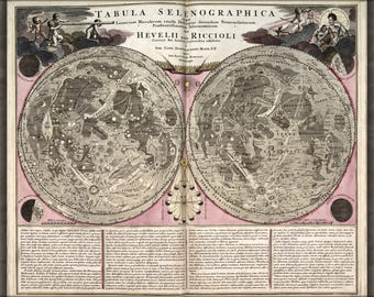 Poster, Many Sizes Available; Lunar Map Of The Moon 1708 In Latin