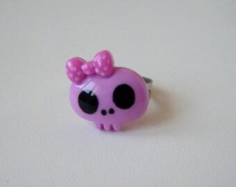 Ring - Skull - purple
