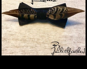 Feathers Bow Tie
