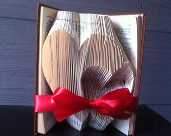 Wedding gift , Valentine's Day for him for her - Folded Book- Sculpture - Birthday Present