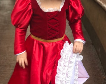 Redheaded Pirate Wench Costume Inspired by the Pirates of the Caribbean / Redheaded Wench