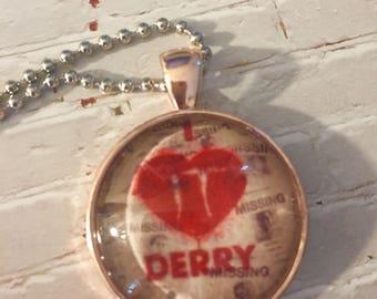 I Love Derry Glass Pendant