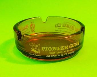 Howdy Pardner Pioneer Club Las Vegas Gold Strike Inn Boulder City Former Casino Resort Vintage Promotional Ashtray Dish