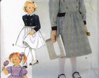 Size 5-6X Easy Girl Special Occasion Dress Sewing Pattern - Puff Sleeve Flared Skirt Dress Pattern - Florence Eiserman - Vogue 9298