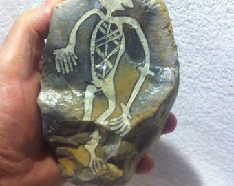 Rock painting:  A spiritual Being after aboriginal Motives from the Kakadu National Park in Australia
