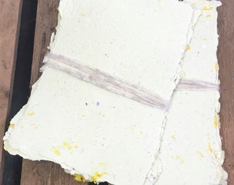 Pack of 10 Sheets A5 handmade Recycled Paper