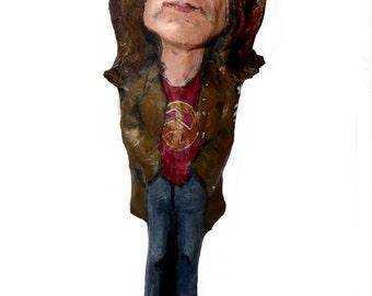 John Lennon paper mache figure