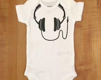 Headphones Onesie or Tee