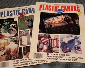 Plastic Canvas Pattern Magazines ~ Leisure Arts Publication ~ 50 Projects to Create ~ Special Features & Designing Ideas ~Collectible 1990's