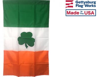 Irish Shamrock Flag- Made in the USA!