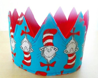 Cat in the Hat inspired Birthday Crown