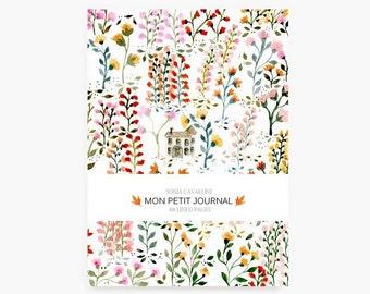Notebook fleurs, A6, cahier, carnet, carnet de note, petit cahier, carnet ligné, carnet liberty, cadeau d'anniversaire, papeterie fleurie