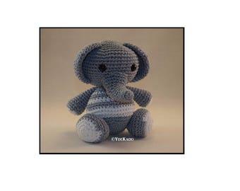 Elephant crochet amigurumi Ydekado