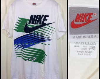 deadstock 1990s Nike silver tag t-shirt size XXL 23x30 made in USA athletic sportswear NOS thin cotton single stitch