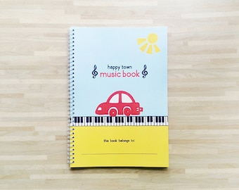 Happy Town Music Book - Music Book / Piano Book / Piano Sheet / Music Sheet for Kids