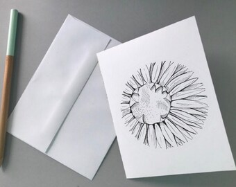 Sunflower Print (Note Card)