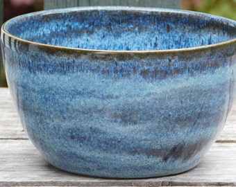 Speckled blue everyday bowl