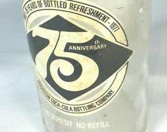 75th Anniversary Houston Coca-Cola Bottling Company Commemorative 10oz Bottle 1902-1977