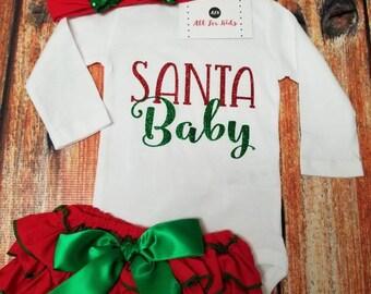 Baby Girl Clothes, Santa Baby Bodysuit