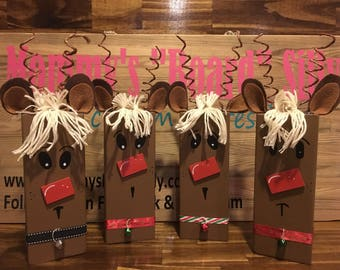 Rustic reclaimed wood reindeer, wood reindeer, rustic christmas decor, wood rudolph, christmas decorations