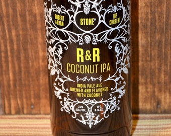 UpCycled Pint Glass - Stone, Robert And Ryan And Rip Current R&R Coconut IPA