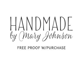 Custom Handmade by stamp   Mounted with Handle or Self-Inking - 20459